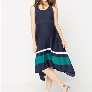 NWT Pea in The Pod cross back navy dress M